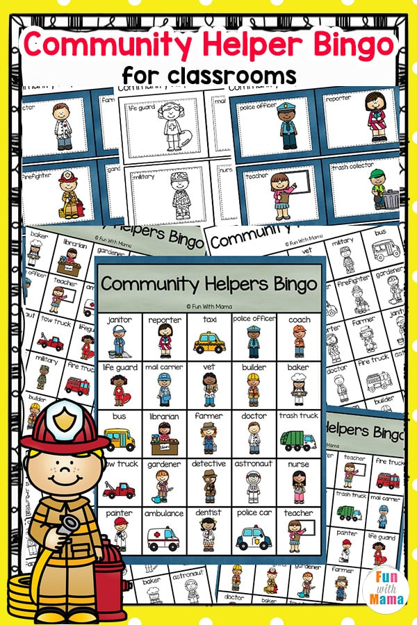 community helpers bingo, community helpers activities