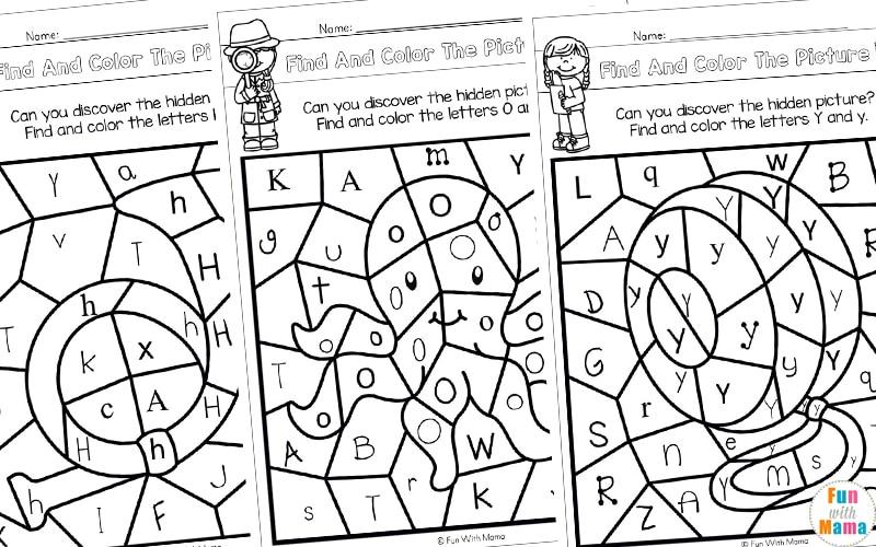 Alphabet Color By Letter Worksheets
